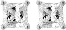 Orphelia–Orecchini da donna in argento 925rodiato con zirconi bianchi taglio rotondo–zo 7012