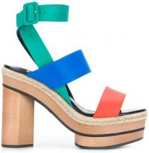 Pierre Hardy - Sandali con design color-block - women - Leather - 35, 36, 36.5, 37, 38, 39, 40 - MULTICOLOUR