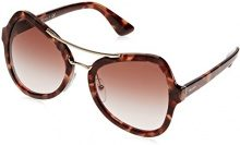 Prada 0PR18SS UE00A6, Occhiali da Sole Donna, Marrone (Spotted Brown Pink/Browngradientpink), 55