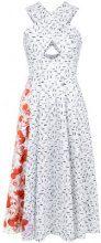 Isolda - Mumbai midi dress - women - Cotone/Spandex/Elastane - 38 - WHITE