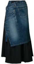 Junya Watanabe - Gonna jeans - women - Cotton/Wool - XS, M - MULTICOLOUR