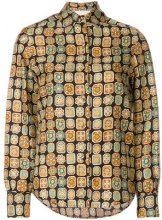 La Doublej - Camicia 'Piastrelle' - women - Silk - S, L - BROWN