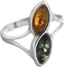Nature d'Ambre 3111188 - Anello da donna in argento 925/1000 con ambra, Argento 925/1000, 16, cod. 311118156