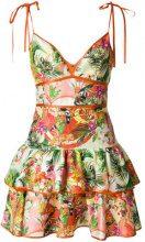 Piccione.Piccione - Vestito con stampa tropicale - women - Silk/Polyester/Acetate/Rayon - 40, 42, 44 - MULTICOLOUR