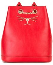 Charlotte Olympia - Zaino ricamato 'Feline' - women - metal/Leather - OS - RED