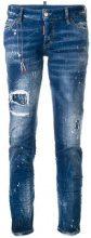 Dsquared2 - Jennifer distressed jeans - women - Cotton/Spandex/Elastane - 46, 38, 40, 42 - BLUE