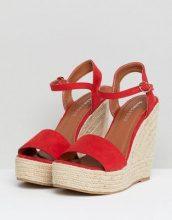 Glamorous - Sandali espadrillas rossi con zeppa - Rosso