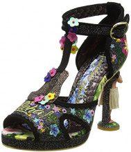Irregular Choice Magical Maui, Sandali con Cinturino alla Caviglia Donna, Nero (Black C), 36 EU