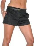 (1219) di Womans sexy shorts rasatello Matt Satin Celeb Culottes & Black Belt dimensioni