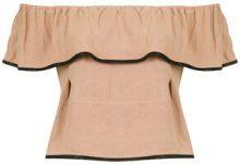 Olympiah - Jasmine cropped top - women - Linen/Flax/Viscose - 34, 36, 38, 40 - NUDE & NEUTRALS
