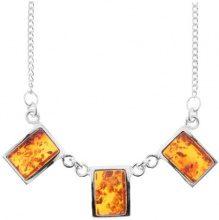 InCollections 010029CN26L660 - Collier da donna con ambra, argento sterling 925