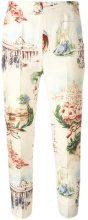 Moschino Vintage - Pantaloni 'Classicist Roman' - women - Silk - 42 - MULTICOLOUR