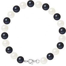 Pearls & Colors Bracciale intrecciato Donna argento 925_argento perla rotonda - AM17-BRA-AG-R78-M-WHBL