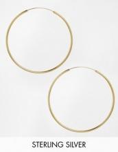 ASOS - Orecchini a cerchio da 60 mm in argento sterling placcato oro