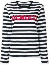 Fiorucci - Top a righe con logo - women - Cotone - M, S, L, XS - Nero