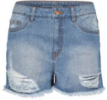 ONLY Jdy Delullo Hw Destroyed Denim Shorts Women Blue