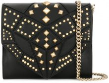 Just Cavalli - studded crossbody bag - women - Calf Leather - OS - Nero