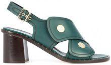 Derek Lam - Lagos Block Heel Sandal - women - Calf Hair - 37, 37.5, 38.5, 39, 39.5, 40 - GREEN