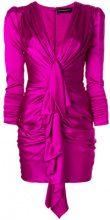 Alexandre Vauthier - Vestito corto drappeggiato - women - Silk/Spandex/Elastane - 34, 36, 38 - PINK & PURPLE