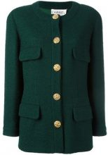 Chanel Vintage - Giacca senza collo - women - Wool - 40 - Verde