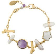 Gas Bijoux - Bracciale 'Laguna' - women - 24kt Gold Plate/Pietra/Madre di Pearl - OS - Multicolore