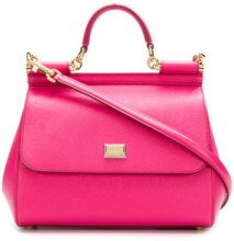 Dolce & Gabbana - Sicily small tote bag - women - Calf Leather - One Size - Rosa & viola
