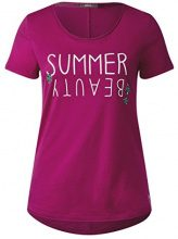 Cecil 311946, T-Shirt Donna, Rosa (Magic Pink 31277), XXL