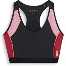 ESPRIT Sports 107ei1t002-Bra Top Colourblock, Reggiseno Donna, Nero (Black 001), (Taglia Produttore: X-Small)