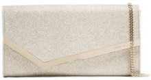 Jimmy Choo - Metallic Emmie glitter clutch - women - Polyamide - OS - METALLIC