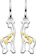 Dew 6038GD - Orecchini pendenti a forma di giraffa, argento Sterling placcato oro