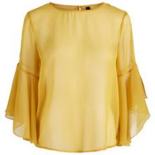 Y.A.S Yellow Short Sleeved Top Women Yellow