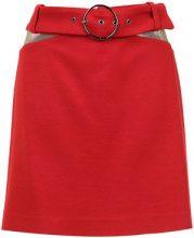 Nk - belted skirt - women - Acrylic/Lana Vergine - 38 - Rosso