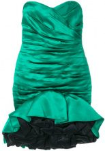 A.N.G.E.L.O. Vintage Cult - pleated full cocktail dress - women - Silk - 42 - GREEN