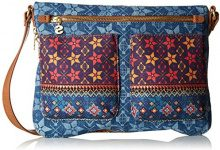 Desigual Bols_mystic Baqueira - Borse a tracolla Donna, Blau (Jeans), 2x23x30.5 cm (B x H T)