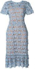 Michael Michael Kors - floral lace midi dress - women - Cotone/Polyester - S, L - BLUE