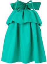 MSGM - Vestito con balza increspata - women - Polyester - 38, 40, 42 - GREEN