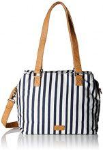s.Oliver (Bags) Shopper - Borsa Donna, Blu (Blue Stripes), 10x25x30 cm (B x H T)