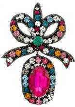 Gucci - Orecchini con fiocco ricamato - women - Silk/Brass/metal/glass - OS - MULTICOLOUR