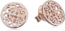 Engelsrufer ornamento orecchini per donne Rose Gold Plated Zirconia bianco argento 925-Sterling misura 13 mm (0,51