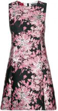 Dolce & Gabbana - floral embroidered shift dress - women - Polyamide/Polyester/Metallic Fibre - 42, 44, 38, 40, 48, 50, 46 - PINK & PURPLE