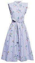 edc by Esprit 038cc1e040, Vestito Donna, Blu (Light Blue 440), 42 (Taglia Produttore: 36)