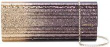 Jimmy Choo - Sweetie glittered clutch - women - Plexiglass - One Size - PINK & PURPLE