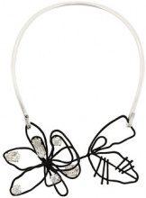 Maison Margiela - Collana con decorazione a fiore - women - Brass/Swarovski Crystal - One Size - Metallizzato