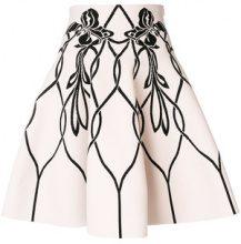 Alexander McQueen - Art Nouveau Jacquard Mini skirt - women - Polyamide/Polyester/Spandex/Elastane/Viscose - S, M - PINK & PURPLE