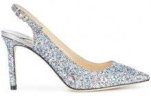 Jimmy Choo - glittered Erin pumps - women - Sequin/Leather - 35, 36,5, 37, 38, 39, 40, 41 - Blu