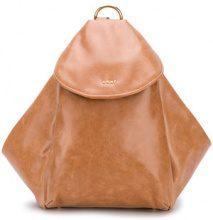 DKNY - Zaino a trapezio - women - Leather - OS - BROWN
