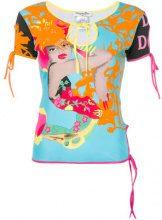 Christian Dior Vintage - tie detailing blouse - women - Cotone - 42 - Multicolore