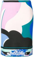 Emilio Pucci - abstract print straight skirt - women - Viscose/Silk - 38, 40, 42, 46, 44, 48 - Multicolore