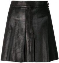 Jitrois Vintage - Gonna plissettata - women - Viscose/Leather - 38 - BLACK