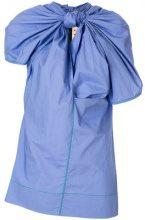 Marni - Top con nodo frontale - women - Cotone - 42, 44, 46, 40, 36, 38 - BLUE
